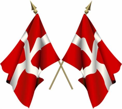 Dannebrog det danske flag